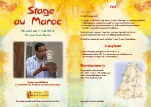 Stage au Maroc-mailing