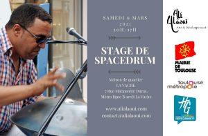 STAGE DE SPACEDRUM @ FRANCE/TOULOUSE/ Maison de quartier La Vache